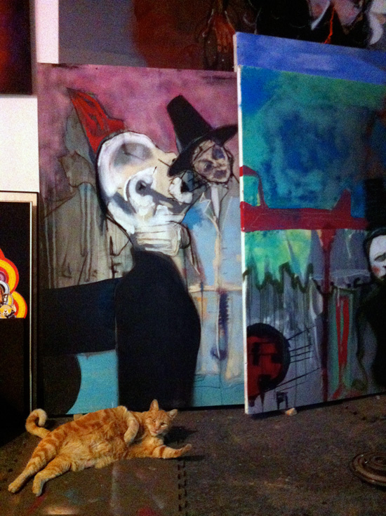 Paris Art and a Fat Orange Cat photograph
